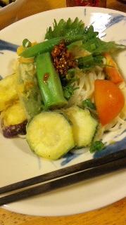 夏野菜そば