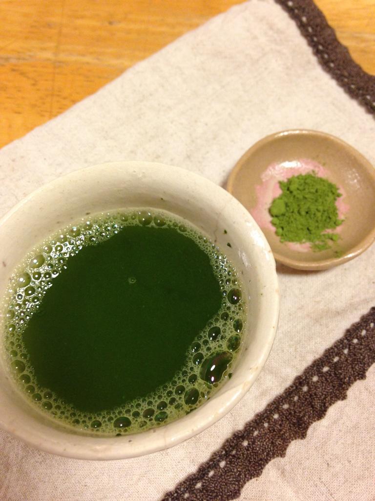粉末緑茶出来上がり